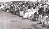Dr. B. R. Ambedkar among other dignitaries at India's first Republic Day parade