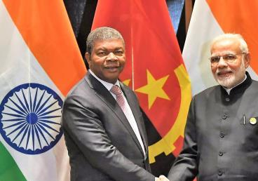 H.E.Shri Narendra Modi, Hon'ble Prime Minister of India meets H.E. Mr.João Lourenço President of Angola during 10th BRICS Summit in Johannesburg, SA (26 July 2018)