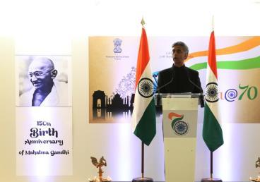Geneva: Ambassador Rajiv K Chander addressing the audience at the National Day Reception on the occasion of India's Republic Day at World Intellectual Property Organization headquarters, Geneva;25 January 2019
