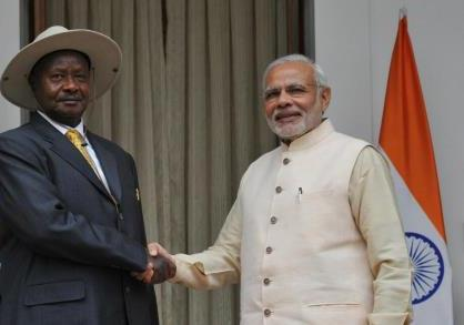 President of Uganda welcome the Prime Minister of India - July 2018