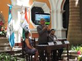 Ambassador of India, along with Deputy Director of Guatemala Institute for Tourism and Director from Guatemala Municipality, at a Press Conference on 13 June to announce the IDY event