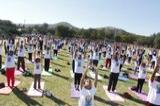 Celebration of the 3rd International Day of Yoga in Windhoek, Namibia