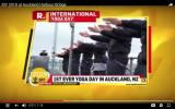 International Day of Yoga 2018 at Auckland Harbour Bridge -Media coverage