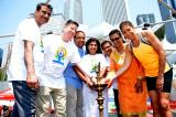 News Coverage by TV Asia, Chicago on 4th International Day of Yoga celebrated by CGI, Chicago at Millennium Park, on June 16, 2018
