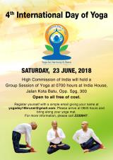 Celebration of International Day of Yoga (IDY) 2018 in Brunei Darussalam