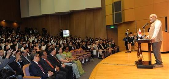 Prime Minister addresses the gathering at University of the Sacred Heart in Tokyo
