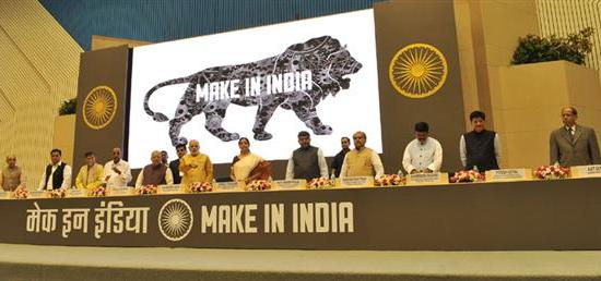Prime Minister Narendra Modi launches the ''Make in India'' initiative in New Delhi with an aim to boost India's manufacturing sector