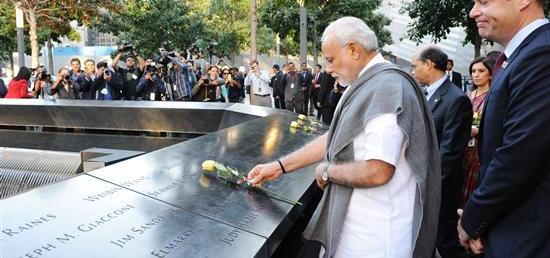 Prime Minister pays homage to the victims of 9/11 at the 9/11 Memorial in New York