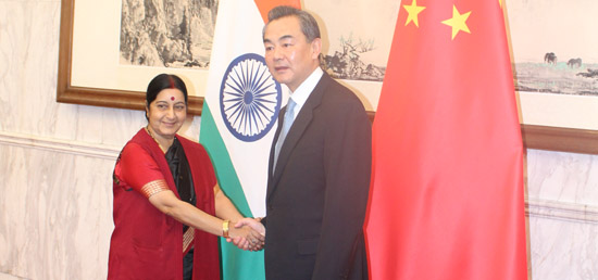 External Affairs Minister meets Foreign Minister Wang Yi of China in Beijing