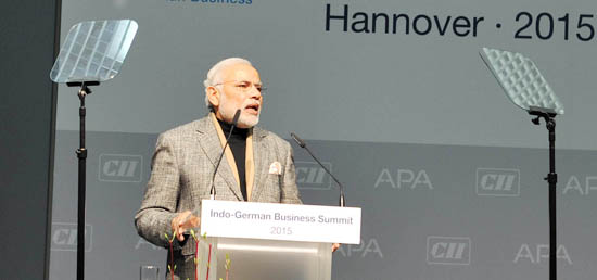 ​Prime Minister addresses at the Joint Inauguration of the Indo-German Business Summit in Hannover