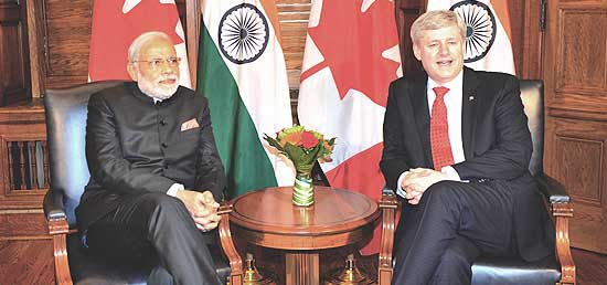 Prime Minister meeting with Prime Minister Stephen Harper of Canada in Ottawa