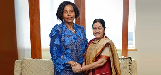 External Affairs Minister meeting with Minister of International Relations and Cooperation Maite Mashabane of South Africa in Durban