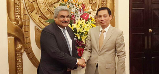 Secretary (East) meets Vice Foreign Minister Le Hoai Trung for 7th Foreign Office Consultations and 4th Strategic Dialogue between India and Vietnam in Hanoi