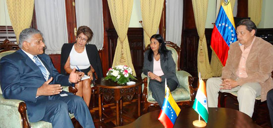 Minister of State for External Affairs meeting with Foreign Minister Delcy Rodríguez​ of Venezuela in Caracas​