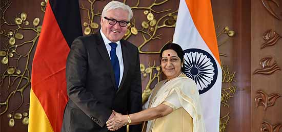 External Affairs Minister meeting with Minister of Foreign Affairs ​Frank-Walter Steinmeier of Federal Republic of Germany in New Delhi