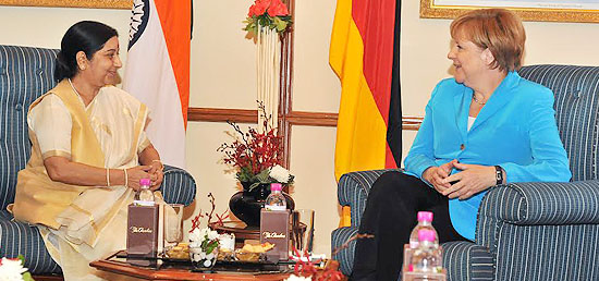 External Affairs Minister calls on ​Chancellor Angela Merkel of Federal Republic of Germany in New Delhi