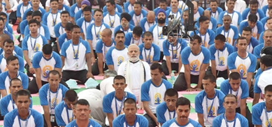Prime Minister participates in the mass Yoga demonstration in Chandigarh on the occasion of the 2nd International Day of Yoga – 2016