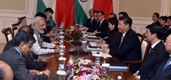 Prime Minister holds delegation level talks with Xi Jinping, President of China in Tashkent during his visit to Uzbekistan