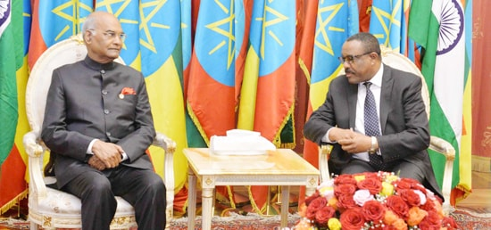 Hailemariam Desalegn Boshe, Prime Minister of Ethiopia calls on President in Addis Ababa