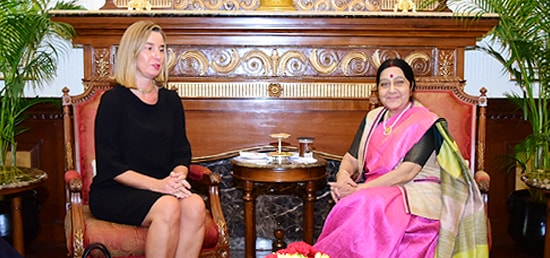 External Affairs Minister meets Federica Mogherini, High Representative of the European Union for Foreign Affairs and Security Policy in New Delhi