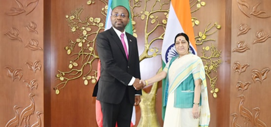 External Affairs Minister meets Agapito Mba Mokuy, Minister of Foreign Affairs and Cooperation of The Republic of Equatorial Guinea in New Delhi