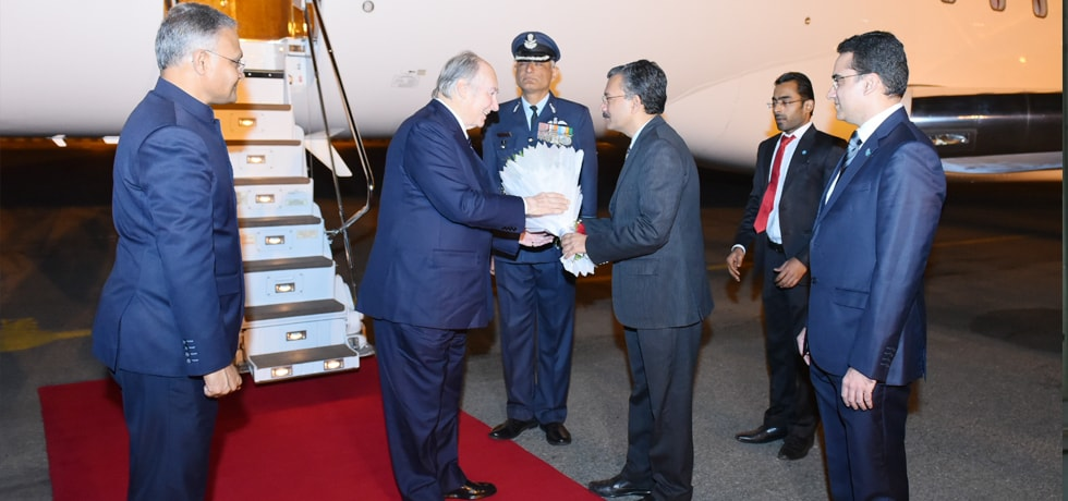 Prince Karim Aga Khan arrives in New Delhi