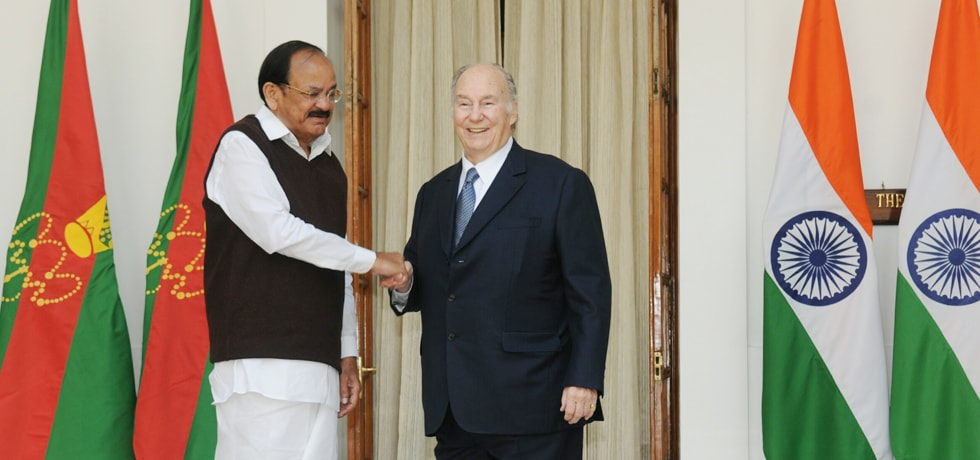 Vice President meets Prince Karim Aga Khan at Hyderabad House in New Delhi