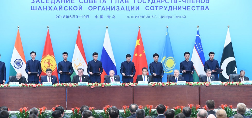 Prime Minister in Signing Ceremony of SCO Summit 2018