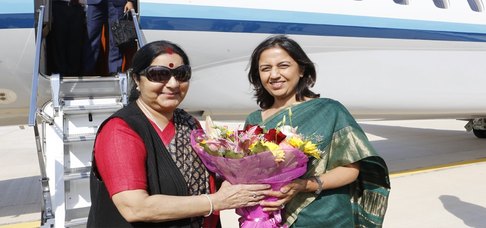 External Affairs Minister arrives in Rome on first leg of her 4-Nation Visit to Italy, France, Luxembourg, and Belgium