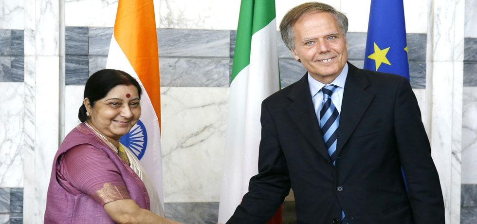 External Affairs Minister meets Enzo Moavero Milanesi, Foreign Minister of Italy in Rome