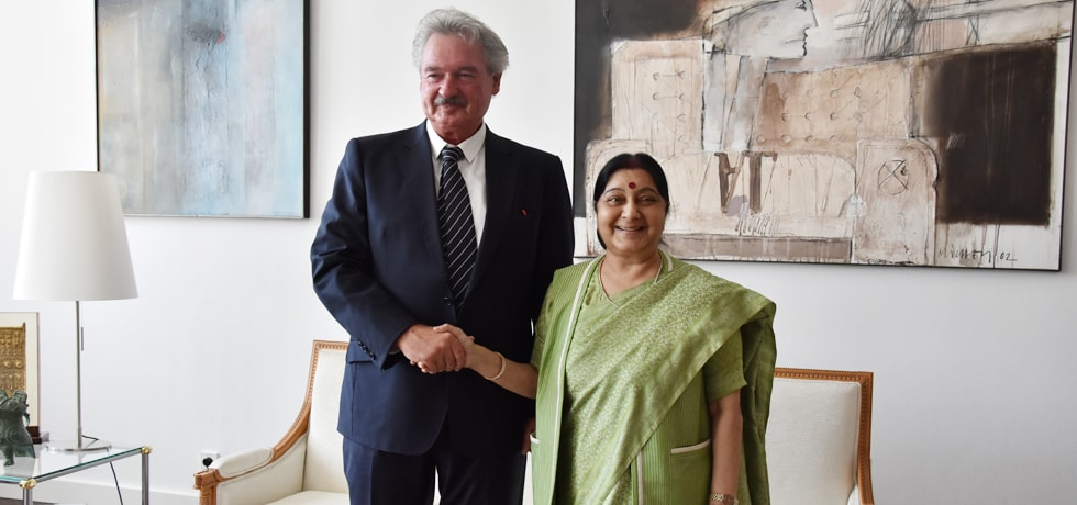 External Affairs Minister meets Jean Asselborn, Foreign Minister of Luxembourg