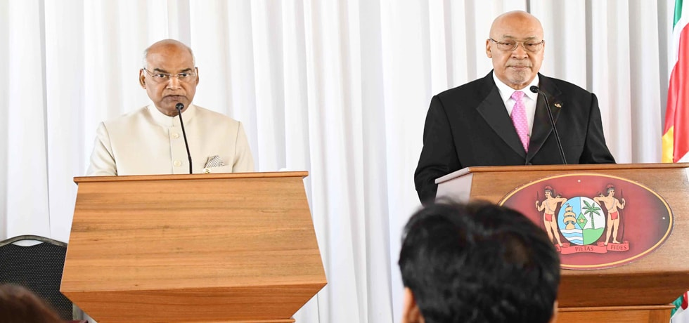 President delivers Press Statement during his visit to Suriname