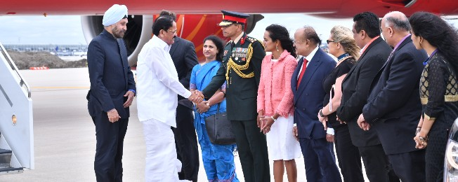 Vice President arrives in Chicago on his two-day US visit