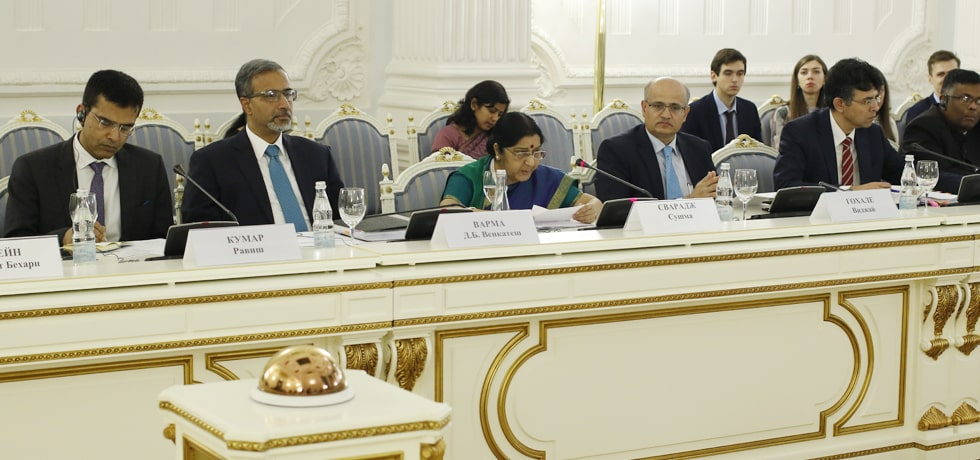 External Affairs Minister addresses Plenary Session of 23rd IRIGC-TEC Meeting in Moscow