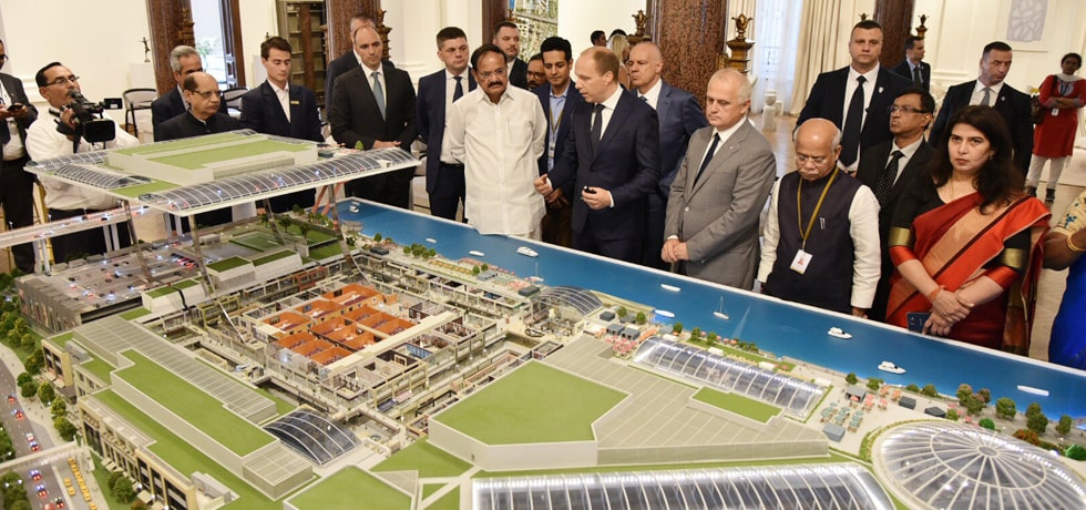 Vice President observes the model presentation on Belgrade Waterfront Project in Belgrade, Serbia