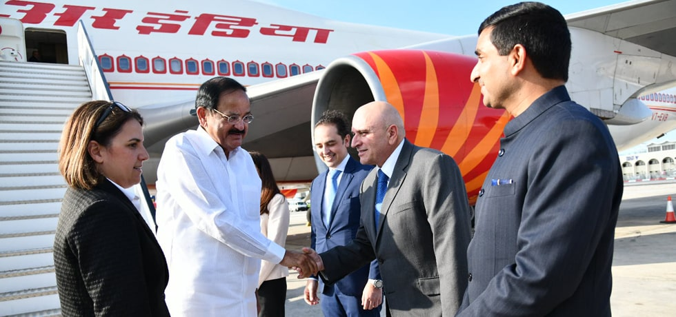 Vice President arrives in Malta on the second leg of his 3-nation Visit to Serbia, Malta and Romania