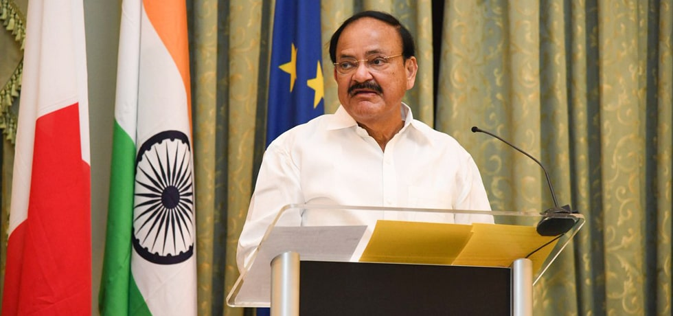 Vice President delivers his address at India-Malta Business Forum in Valletta