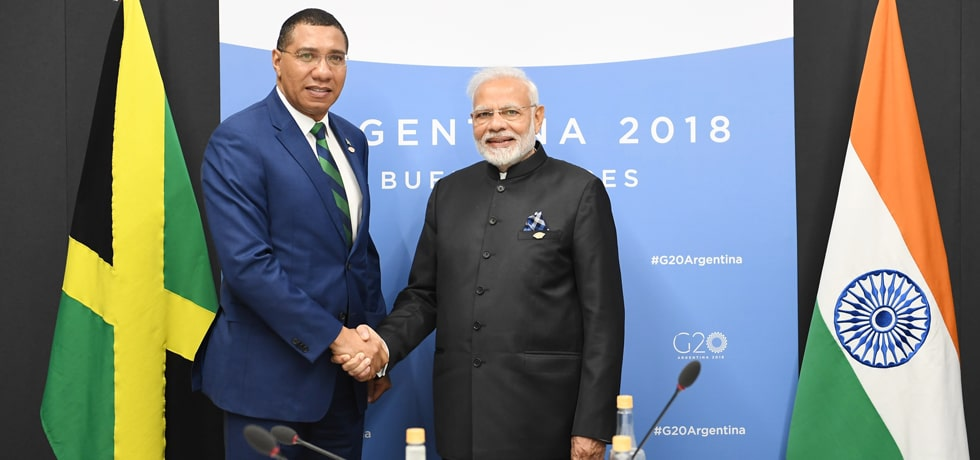 Prime Minister meets Andrew Holness, Prime Minister of Jamaica at the G-20 Summit in Buenos Aires