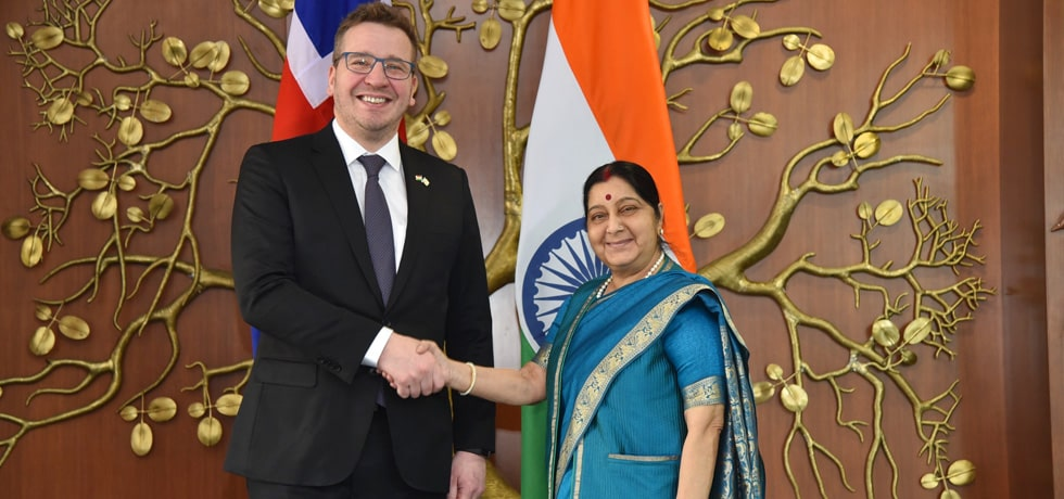 External Affairs Minister meets Gudlaugur Thor Thordarson, Minister of Foreign Affairs of Iceland in New Delhi