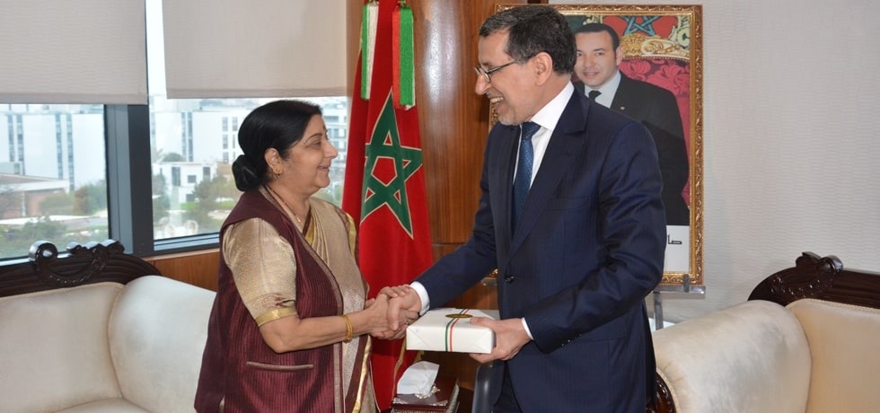 External Affairs Minister calls on Saad Dine El Otmani, Head of Government of Morocco in Rabat