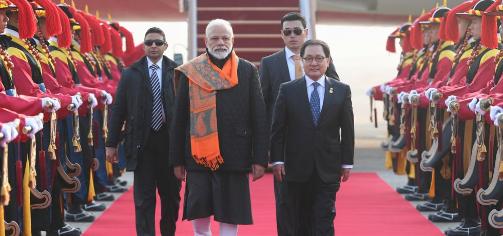 Prime Minister arrives in Seoul on 2-day State Visit to Republic of Korea