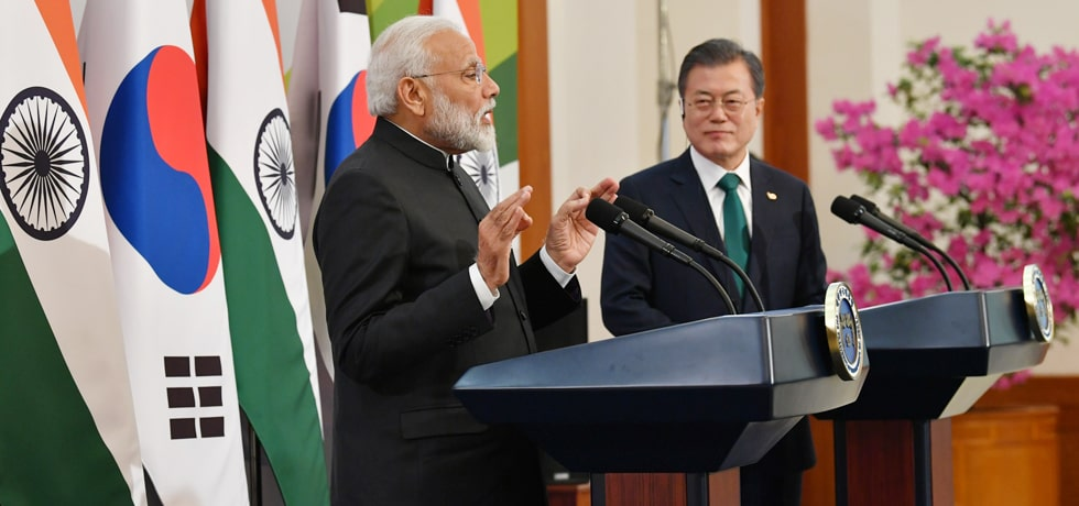 Prime Minister delivers Press Statement during his State Visit to the Republic of Korea