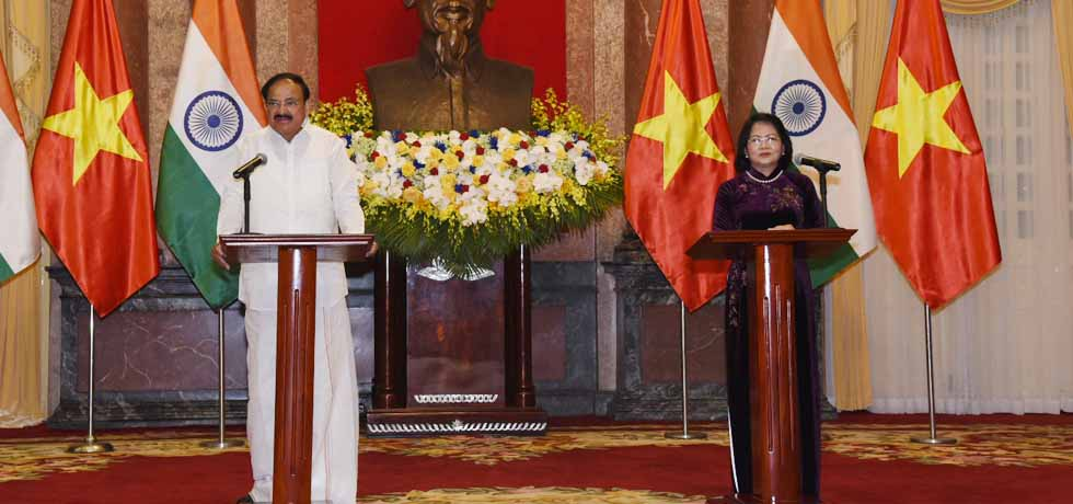 Vice President delivers Press Statement during his Official Visit to Vietnam