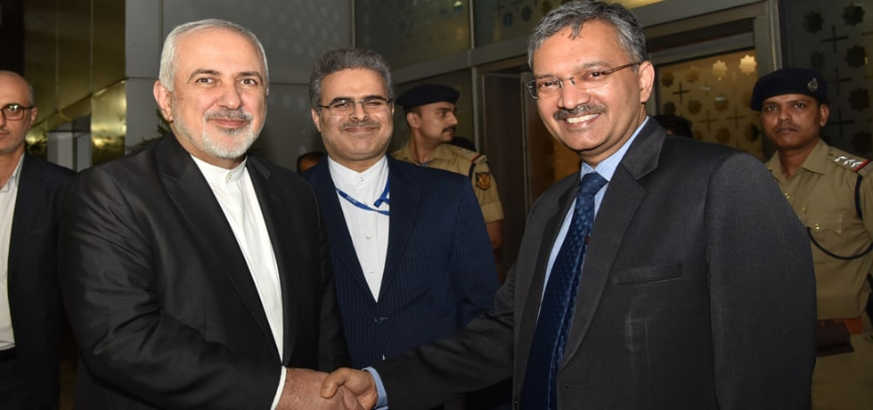 Dr Mohammad Javad Zarif, Minister of Foreign Affairs of Iran arrives in New Delhi [ph]Photo Courtesy: Hemant Joshi[/ph]
