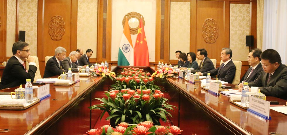 External Affairs Minister and Wang Yi, Foreign Minister of China hold Bilateral Meeting in Beijing