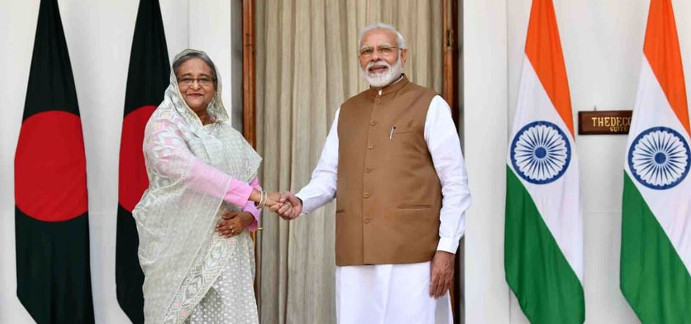 Prime Minister meets Sheikh Hasina, Prime Minister of Bangladesh at Hyderabad House, New Delhi