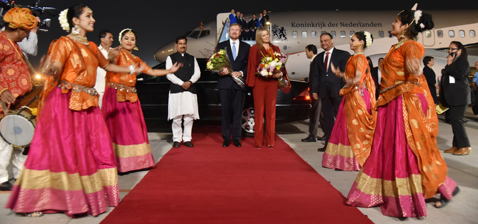 King Willem-Alexander and Queen Maxima of the Netherlands arrives in New Delhi for their 6-day visit to India