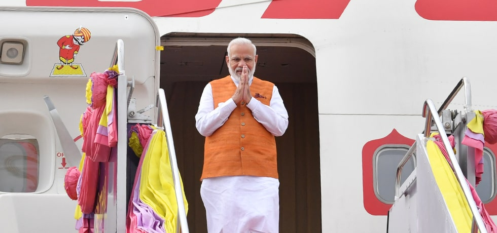 Prime Minister arrives in Bangkok on his 3-day visit to Thailand [ph]Photo Courtesy: Naveen Jora[/ph]