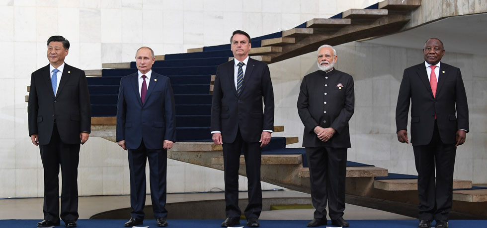 Family photo of Heads of State/ Heads of Government of BRICS nations in Brasilia