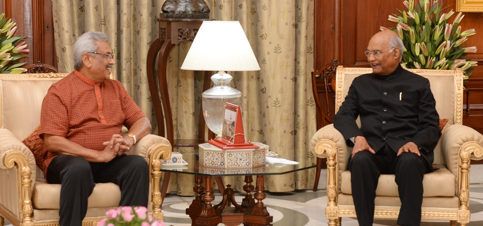President meets Gotabaya Rajapaksa, President of Sri Lanka at Rashtrapati Bhawan, New Delhi [ph]Photo Courtesy:- PHOTO RB[/ph]